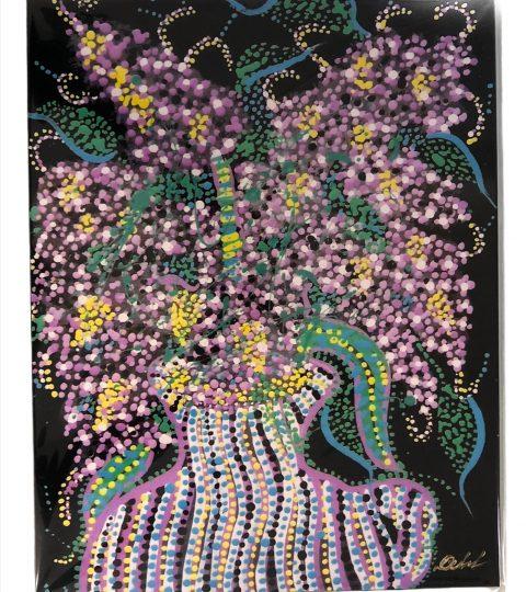 Purple Flowers By Frank Dubek