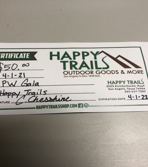 Happy Trails Gift Certificate